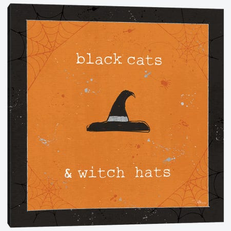 Spooky Cuties II Witch Hats Canvas Print #PES30} by Pela Studio Canvas Art Print