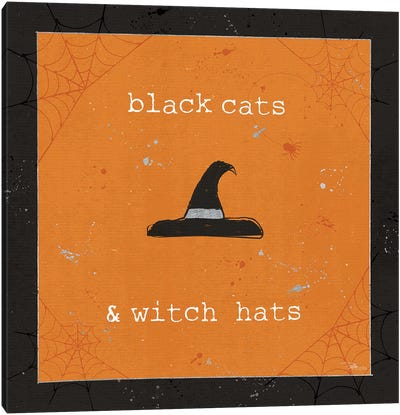 Spooky Cuties II Witch Hats Canvas Art Print