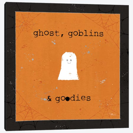 Spooky Cuties III Ghost Canvas Print #PES31} by Pela Studio Canvas Print