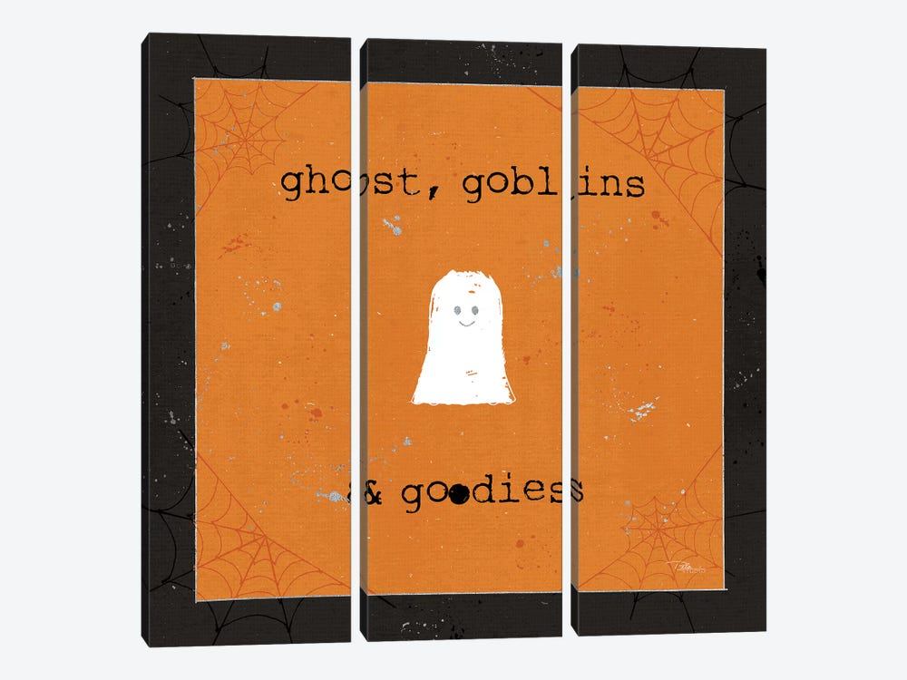 Spooky Cuties III Ghost 3-piece Canvas Art Print