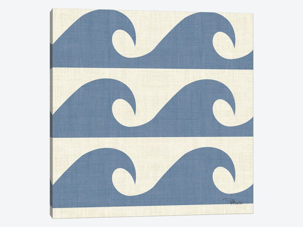 Coastal Farmhouse Pattern IIIB by Pela Studio 1-piece Canvas Artwork