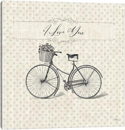 Paris Farmhouse III Bike Canvas Art Print