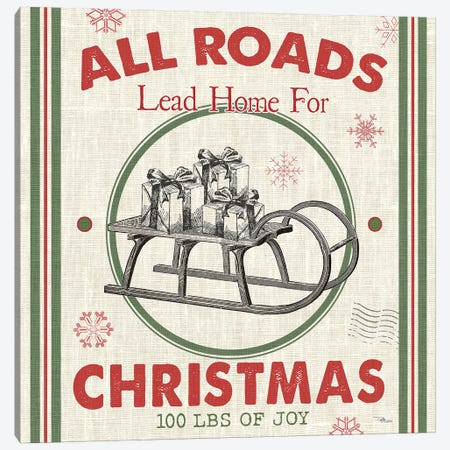 All Roads Lead Home I Canvas Print #PES6} by Pela Studio Canvas Wall Art