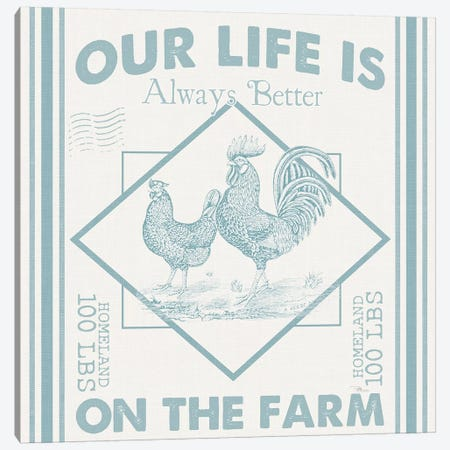 Vintage Farmhouse III Canvas Print #PES70} by Pela Studio Art Print