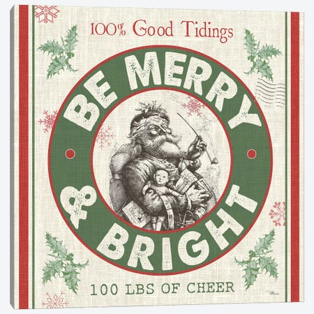 Be Merry & Bright I Canvas Print #PES8} by Pela Studio Canvas Art Print