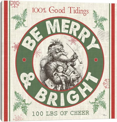 Be Merry & Bright I Canvas Art Print