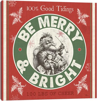 Be Merry & Bright II Canvas Art Print