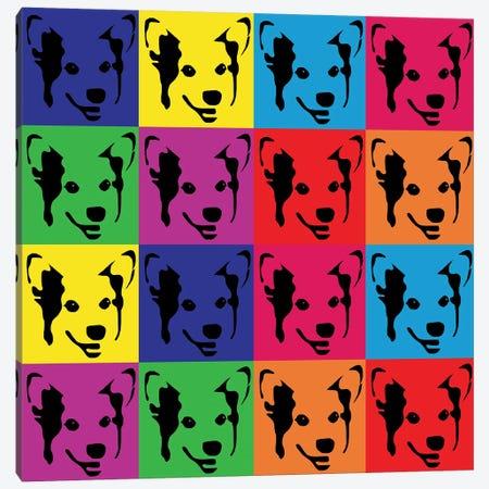 Corgi Pop 3-Piece Canvas #PET102} by Pet Friendly Canvas Print