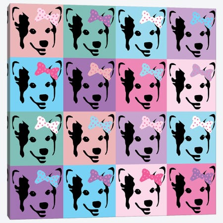 Corgi Pop Bows Canvas Print #PET103} by Pet Friendly Canvas Print