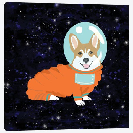 Corgi Tan Spacedog Canvas Print #PET104} by Pet Friendly Canvas Artwork