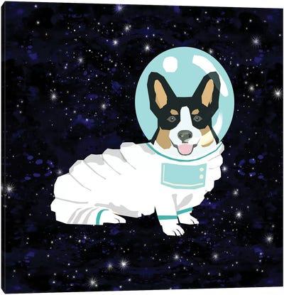 Corgi Tricolored Spacedog Canvas Art Print