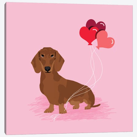 Dachshund Red Canvas Print #PET109} by Pet Friendly Canvas Art Print