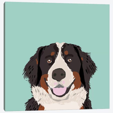 Bernese Mountain Dog Canvas Print #PET10} by Pet Friendly Canvas Art