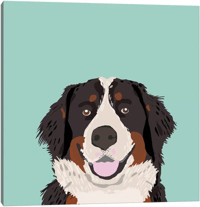 Bernese Mountain Dog Canvas Art Print