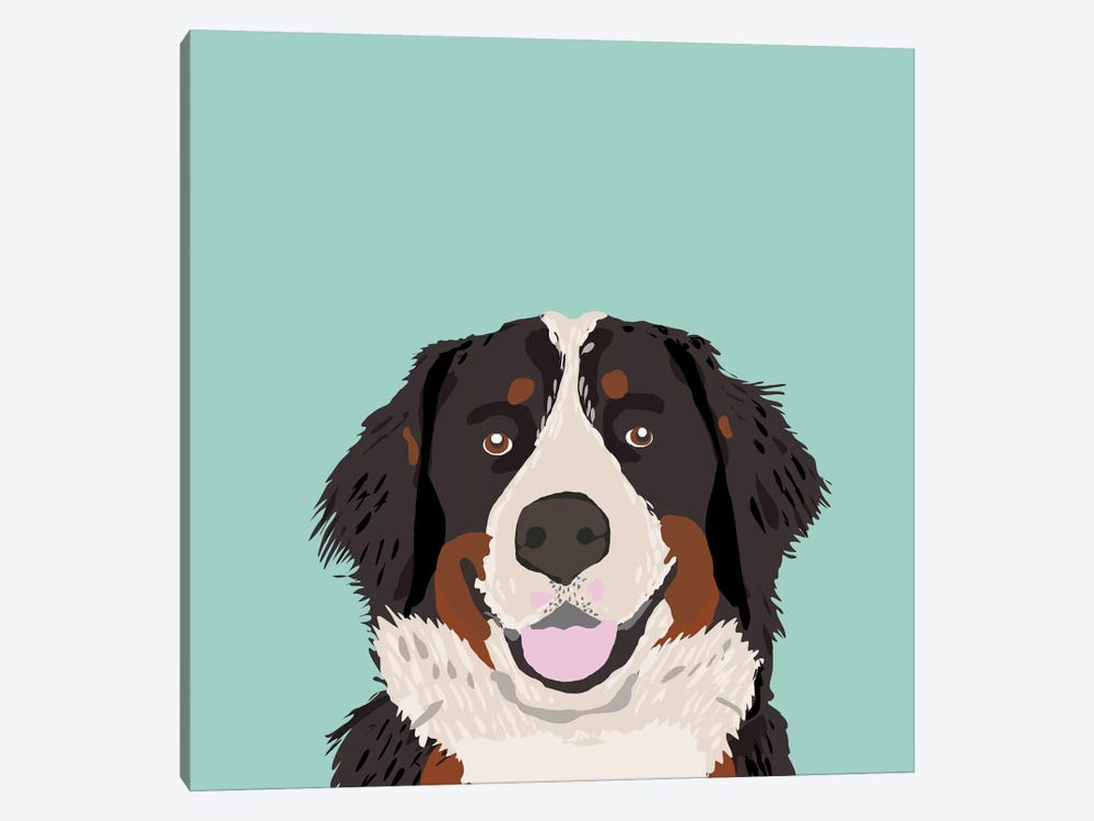 Bernese Mountain Dog by Pet Friendly 1-piece Canvas Art Print