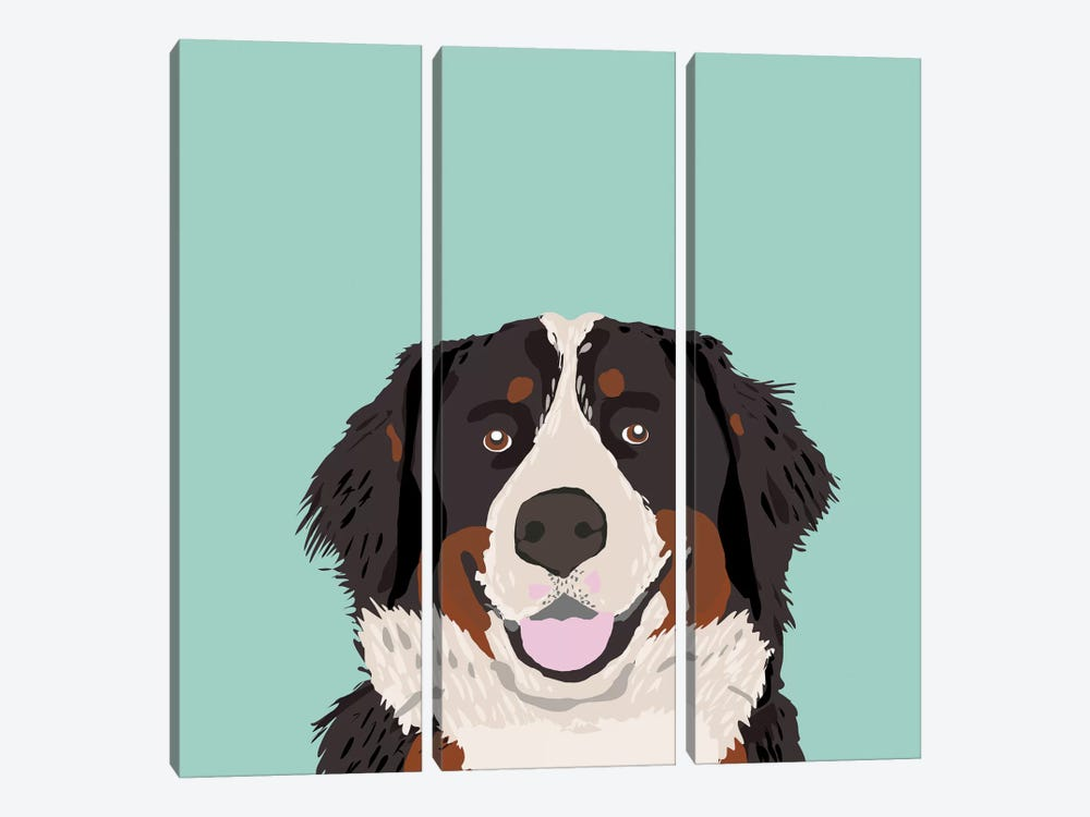 Bernese Mountain Dog by Pet Friendly 3-piece Canvas Print