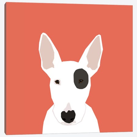 Bull Terrier Canvas Print #PET18} by Pet Friendly Canvas Art