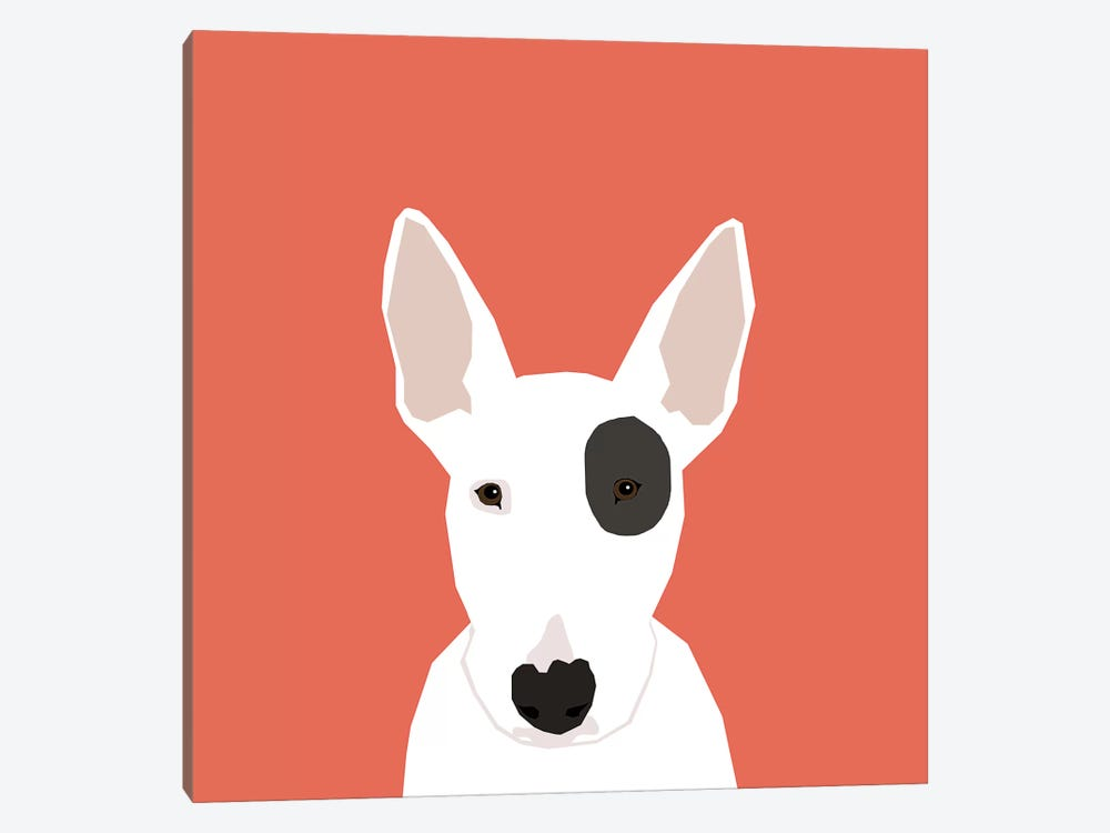 Bull Terrier by Pet Friendly 1-piece Canvas Print