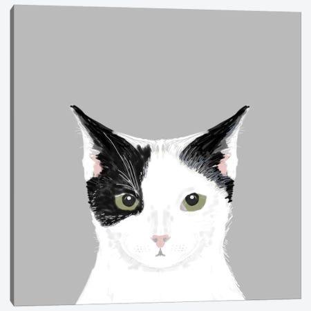 Cat (Black & White) Canvas Print #PET20} by Pet Friendly Art Print