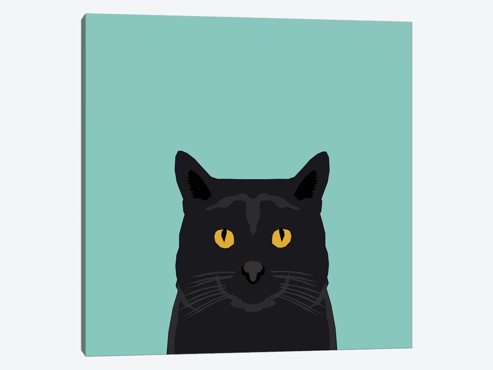 Cat (Black) 1-piece Canvas Art Print