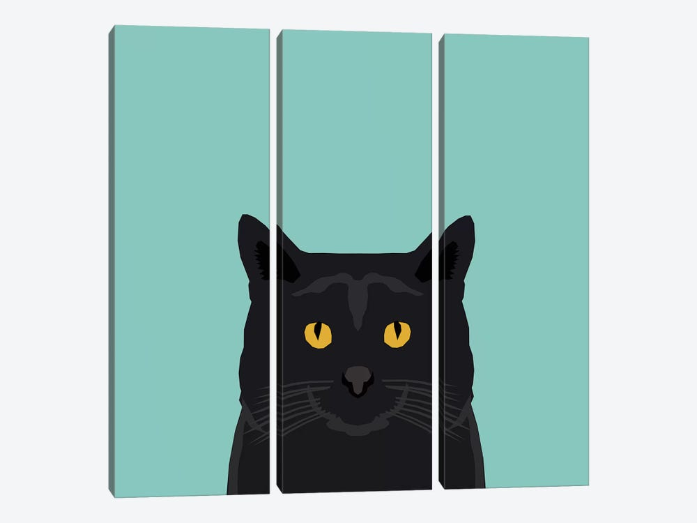 Cat (Black) by Pet Friendly 3-piece Art Print