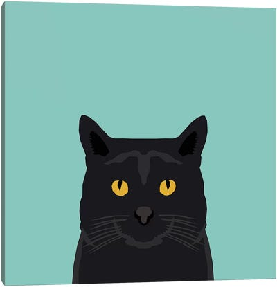 Cat (Black) Canvas Art Print