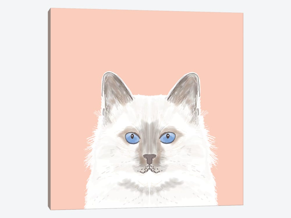 Cat (White) by Pet Friendly 1-piece Canvas Wall Art