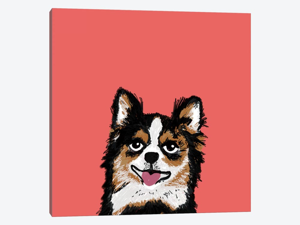 Chihuahua (Long-Haired) by Pet Friendly 1-piece Canvas Print