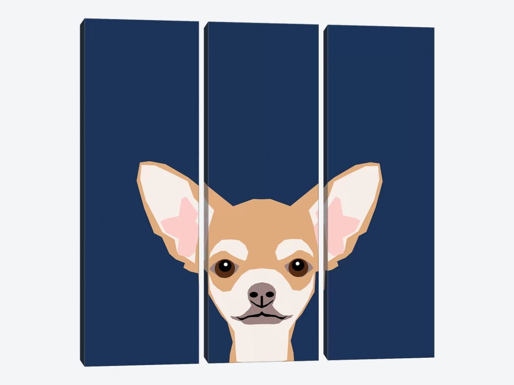 Chihuahua (Short-Haired) by Pet Friendly 3-piece Canvas Wall Art