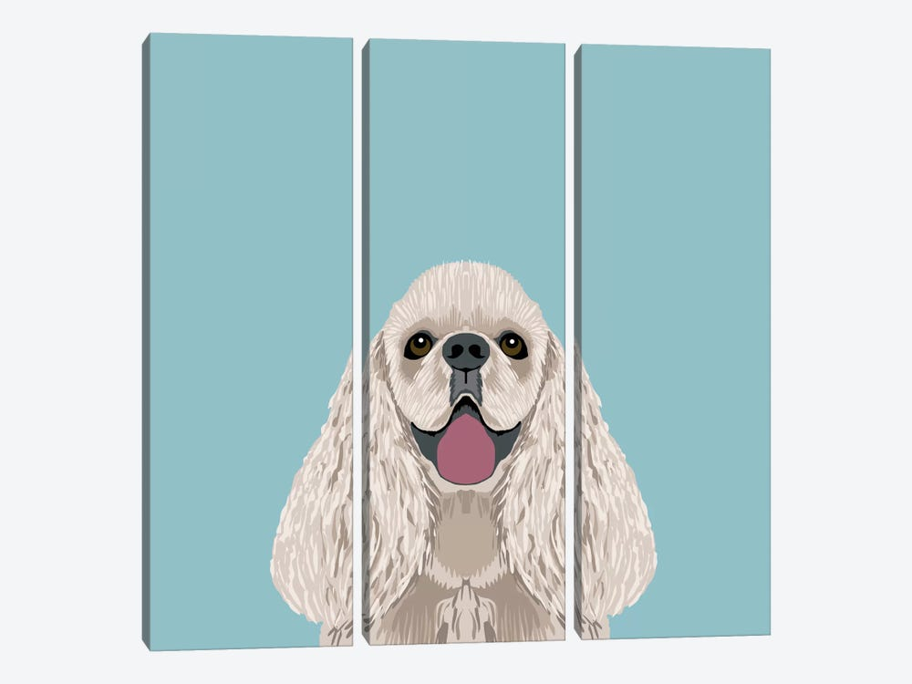 Cocker Spaniel by Pet Friendly 3-piece Canvas Print