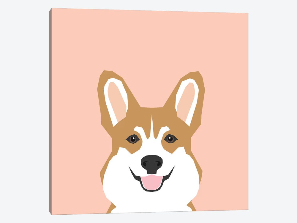 Corgi 1-piece Canvas Art