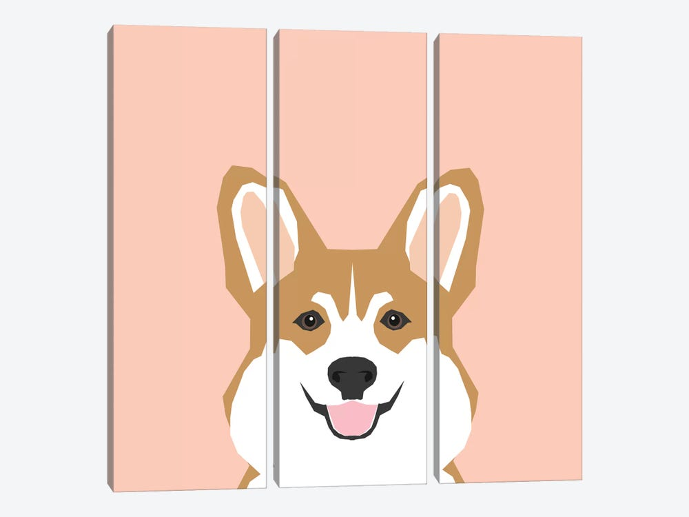 Corgi by Pet Friendly 3-piece Canvas Artwork