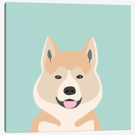 Akita Canvas Print #PET2} by Pet Friendly Canvas Art