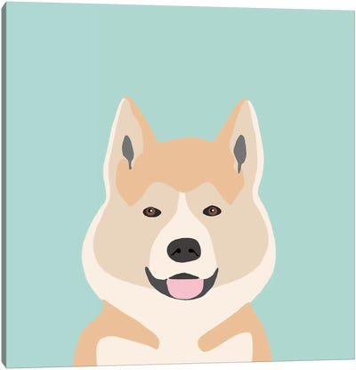 Akita Canvas Print #PET2