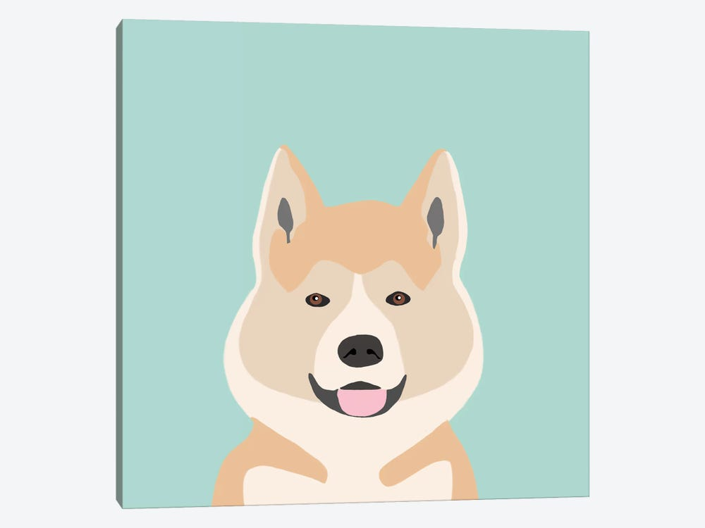 Akita by Pet Friendly 1-piece Canvas Art Print