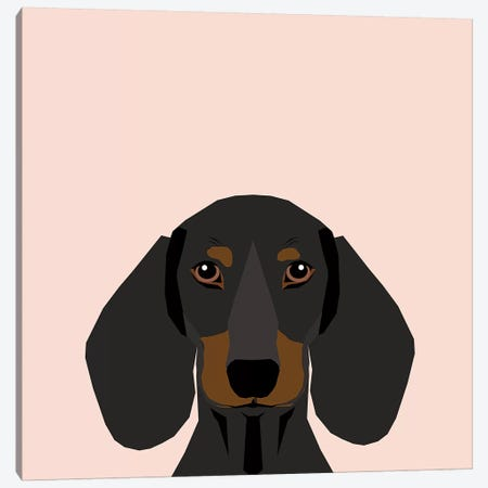 Dachshund I Canvas Print #PET31} by Pet Friendly Canvas Art