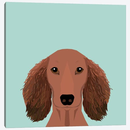 Dachshund II Canvas Print #PET32} by Pet Friendly Canvas Artwork