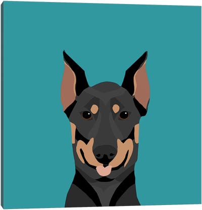 Doberman Pinscher Canvas Art Print
