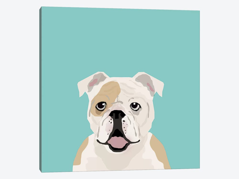 English Bulldog by Pet Friendly 1-piece Art Print