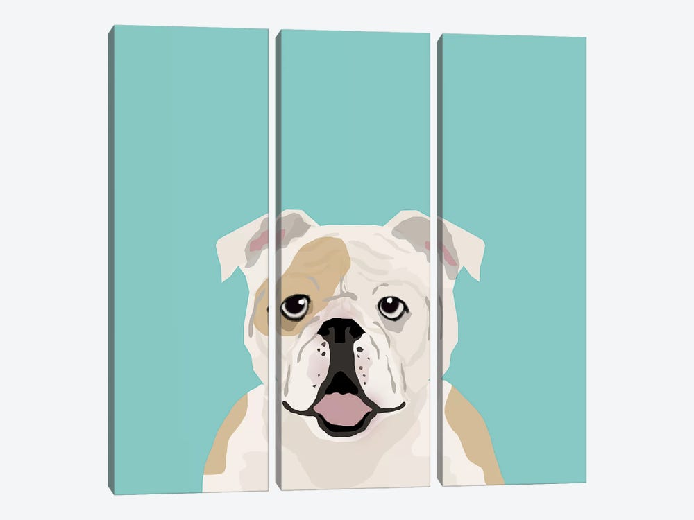 English Bulldog by Pet Friendly 3-piece Art Print