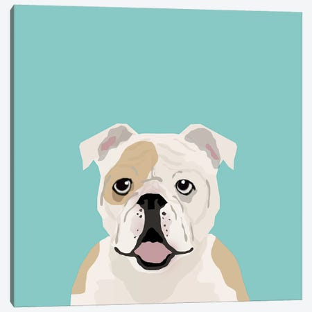 English Bulldog Canvas Print #PET36} by Pet Friendly Canvas Art Print
