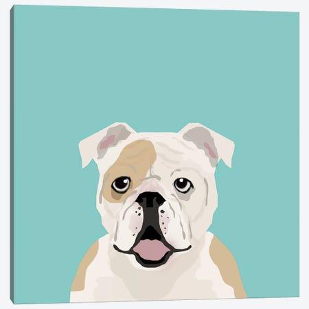 English Bulldog Canvas Print #PET36} by Pet Friendly Canvas Art Print