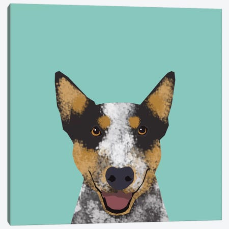 Australian Cattle Dog Canvas Print #PET3} by Pet Friendly Canvas Wall Art