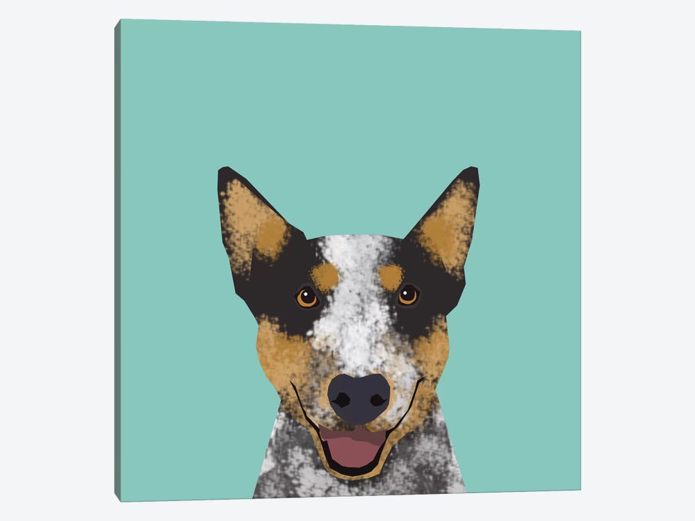 Australian Cattle Dog by Pet Friendly 1-piece Canvas Art