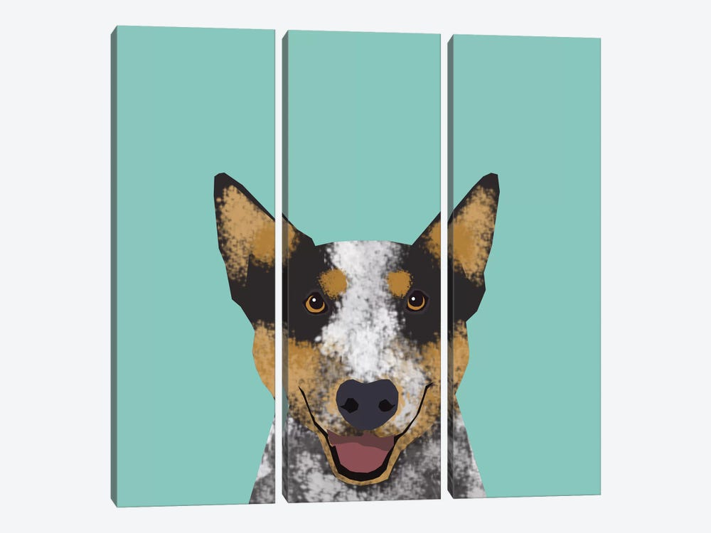 Australian Cattle Dog by Pet Friendly 3-piece Canvas Art