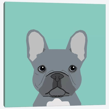 French Bulldog I Canvas Print #PET40} by Pet Friendly Canvas Print