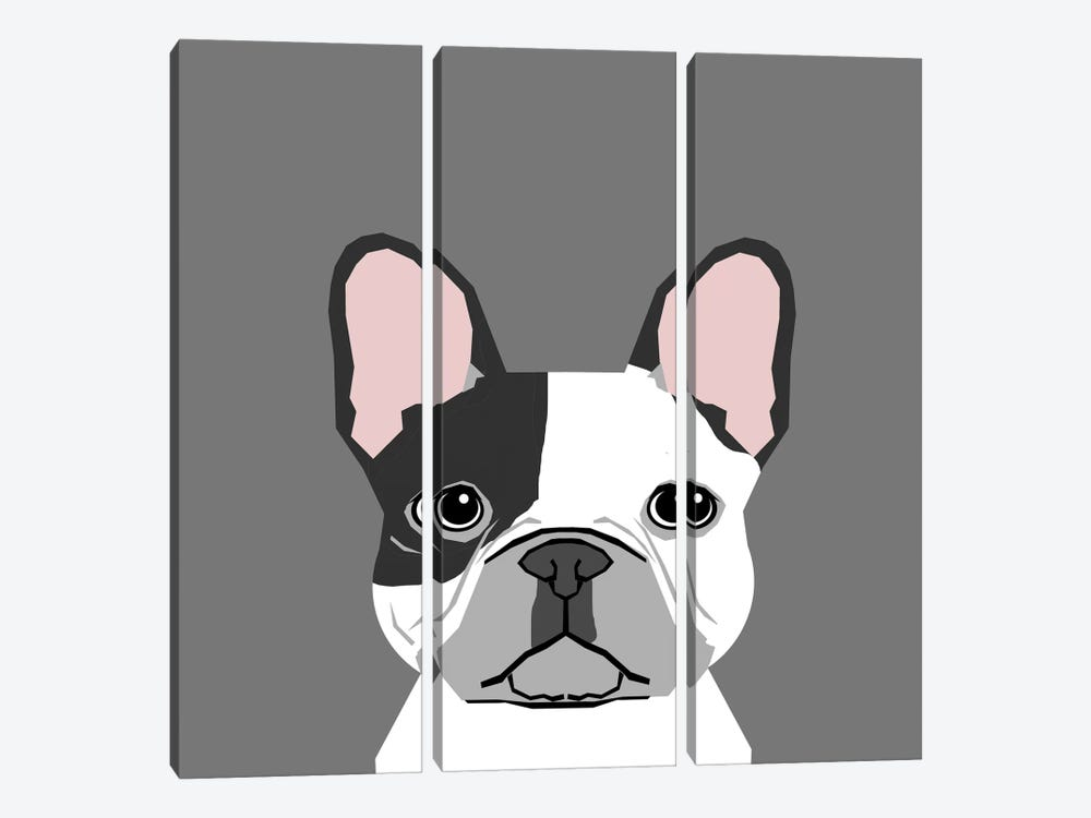 French Bulldog II 3-piece Canvas Print