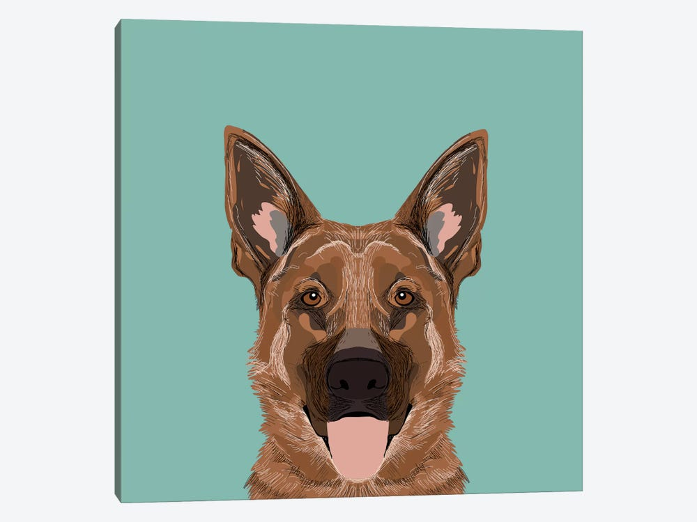 German Shepherd by Pet Friendly 1-piece Canvas Wall Art