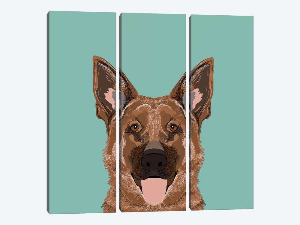 German Shepherd by Pet Friendly 3-piece Canvas Wall Art