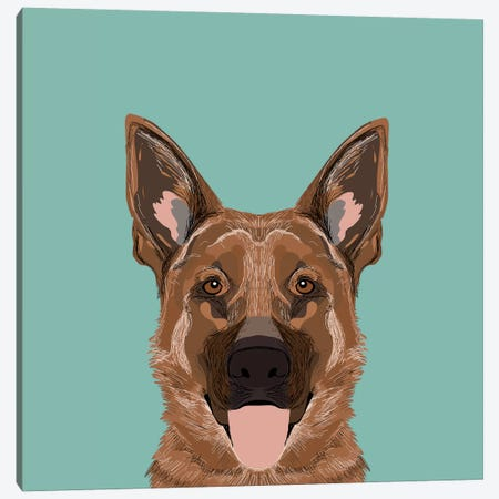 German Shepherd Canvas Print #PET42} by Pet Friendly Canvas Print